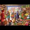 Bluebird Puzzle In de groentewinkel - puzzel van 1000 stukjes
