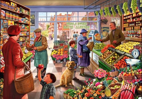 Bluebird Puzzle In de groentewinkel - 1000 stukjes
