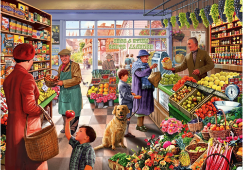 Bluebird Puzzle In the village greengrocer - 1000 pieces