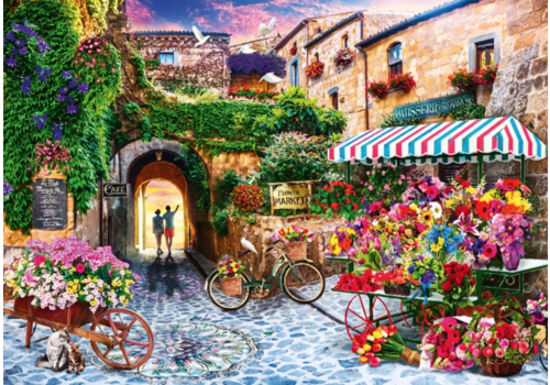 Bluebird Puzzle The Flower Market - 1000 pieces