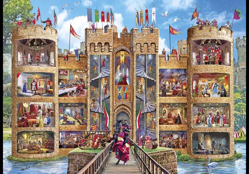 Gibsons Een kijkje in het kasteel - 1000 stukjes