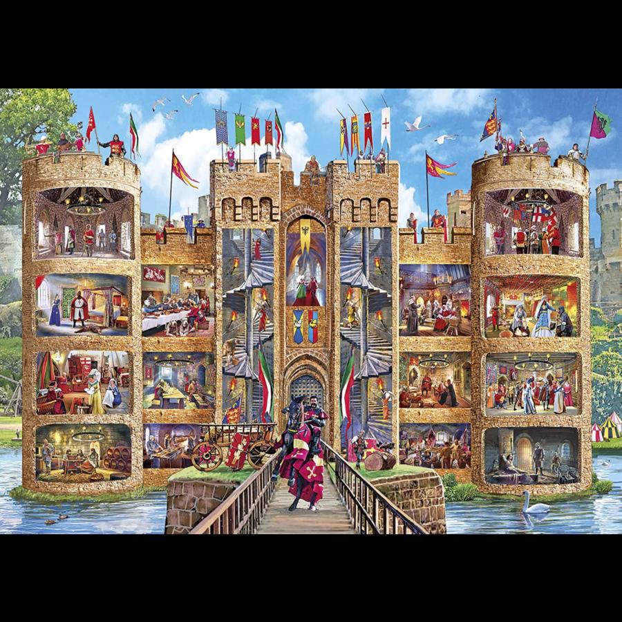 Un regard dans le château - puzzle de 1000 pièces-1