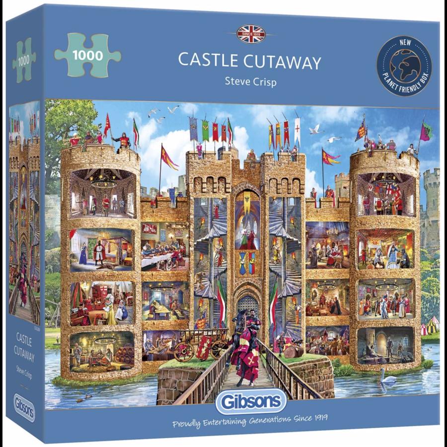 Un regard dans le château - puzzle de 1000 pièces-2