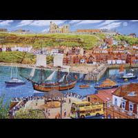 thumb-Het zeilschip Endeavour in de haven - puzzel van 1000 stukjes-1