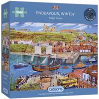 thumb-Het zeilschip Endeavour in de haven - puzzel van 1000 stukjes-2