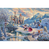 thumb-Beauty and the Beast Winter- Thomas Kinkade - jigsaw puzzle of 1000 pieces-2