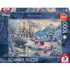 Schmidt Beauty and the Beast Winter- Thomas Kinkade - jigsaw puzzle of 1000 pieces
