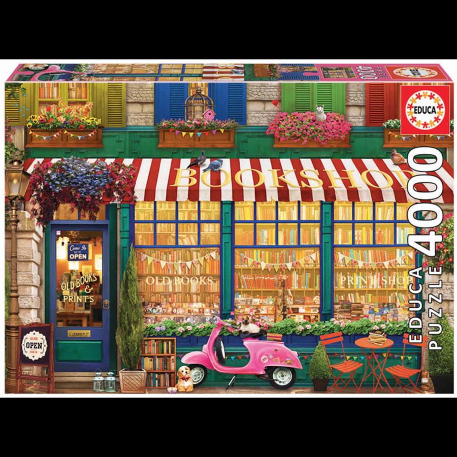 La librairie vintage - puzzle de 4000 pièces-1