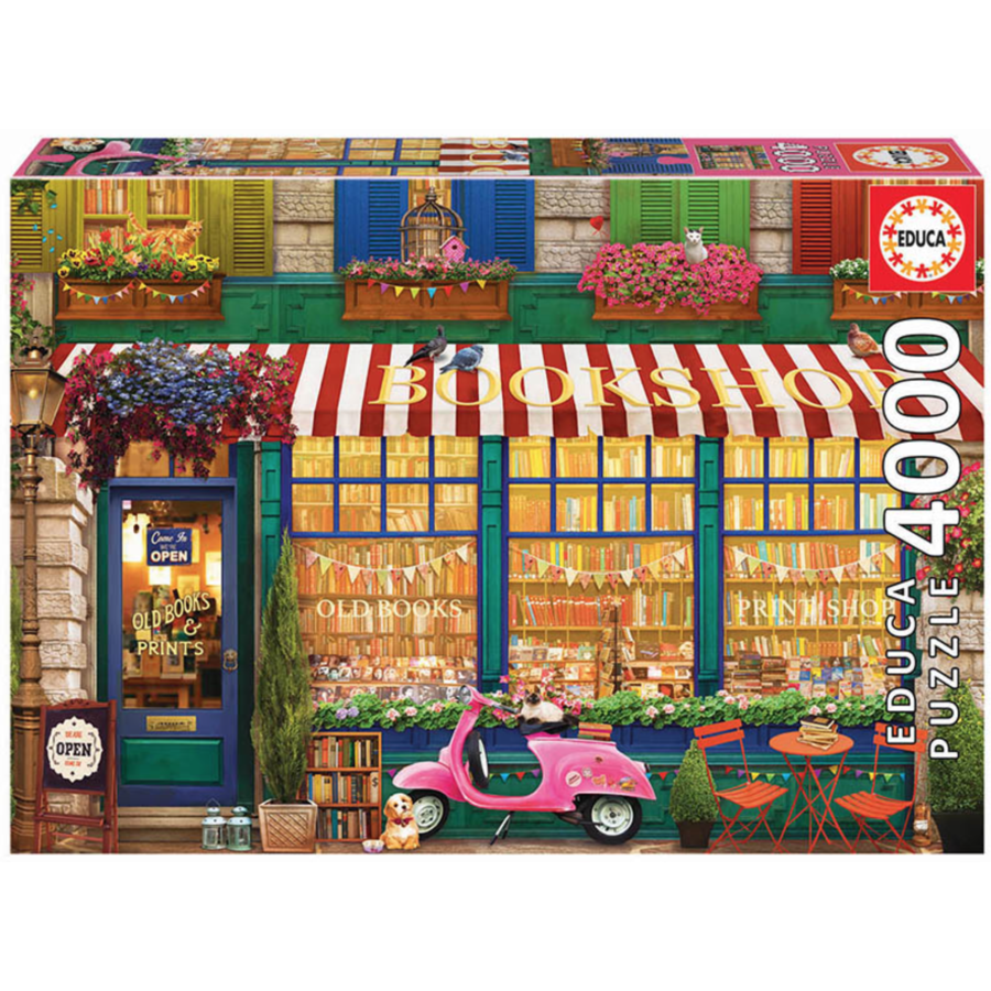 The vintage bookshop - jigsaw puzzle of 4000 pieces-1