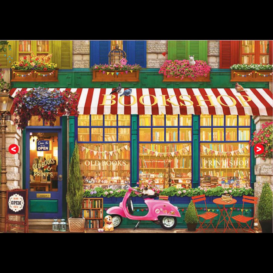 La librairie vintage - puzzle de 4000 pièces-2