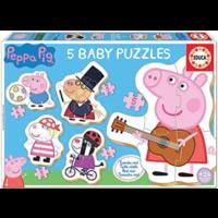 thumb-5 puzzeltjes van Peppa Pig - van 3 tot 5 stukjes-1