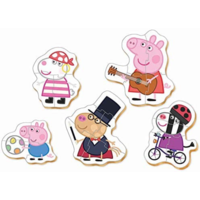 thumb-5 puzzles of Peppa Pig - from 3 to 5 pieces-2