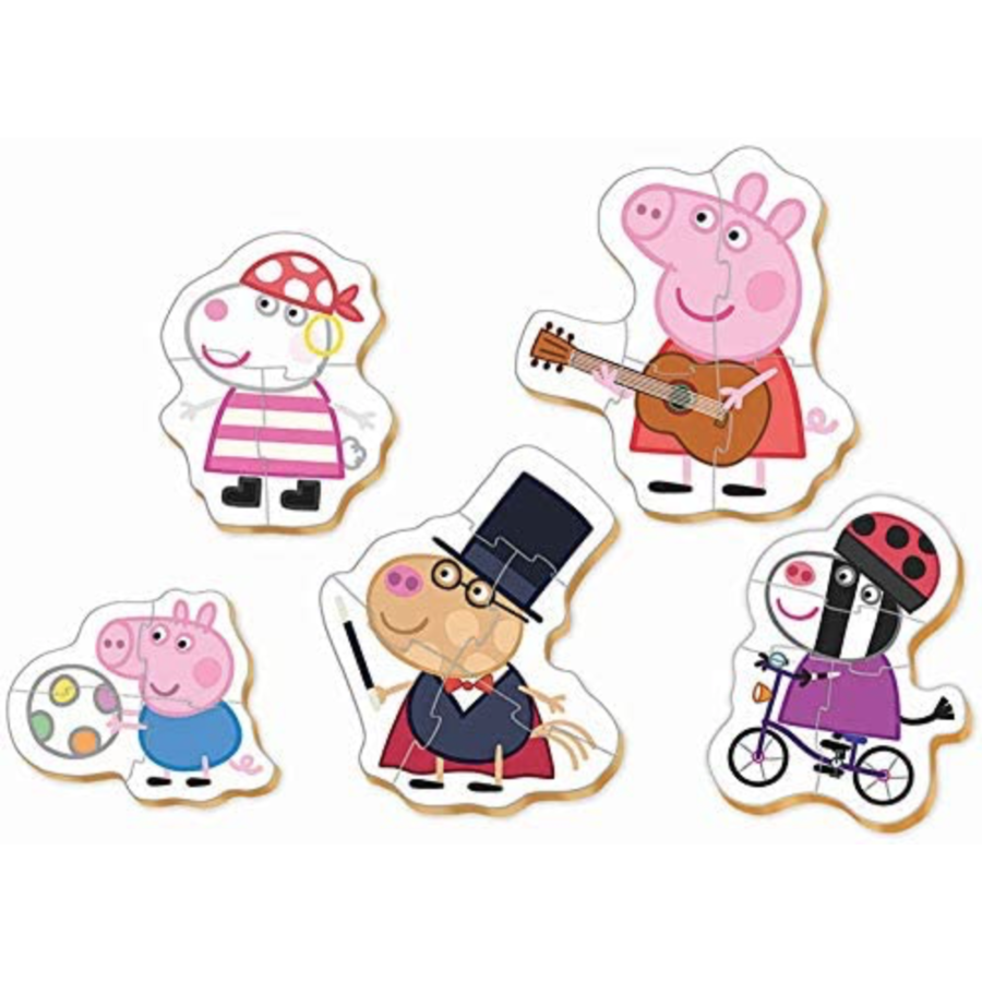 5 puzzles of Peppa Pig - from 3 to 5 pieces-2