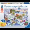 Ravensburger Terras aan zee - puzzel van 300 XXL stukjes - Exclusiviteit