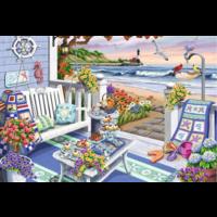thumb-Terras aan zee - puzzel van 300 XXL stukjes - Exclusiviteit-2