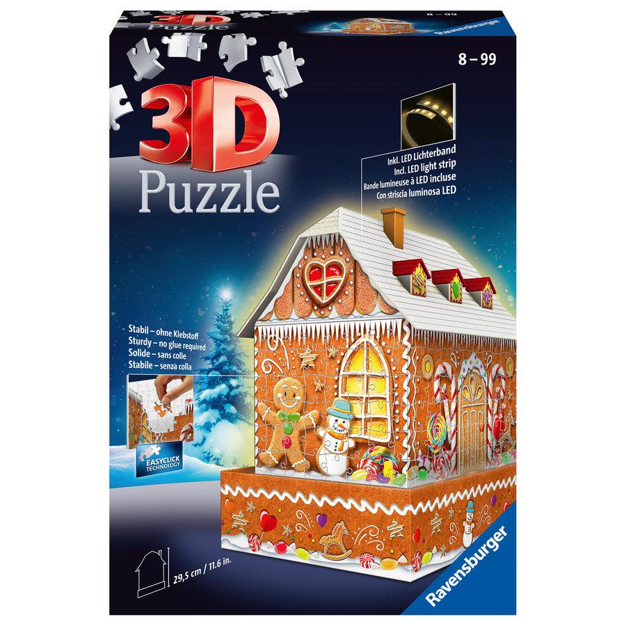 Peperkoekenhuisje - 3D puzzel - 216 stukjes-1