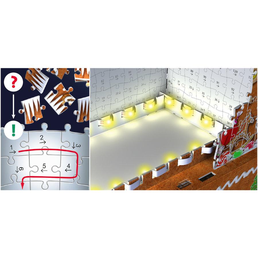 Peperkoekenhuisje - 3D puzzel - 216 stukjes-3