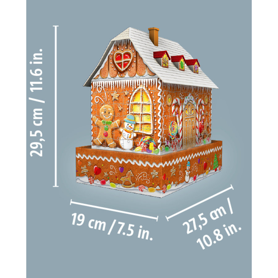 Peperkoekenhuisje - 3D puzzel - 216 stukjes-2