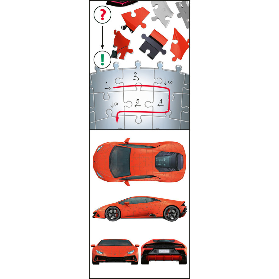 Lamborghini Huracan Evo - 108 stukjes-6