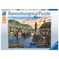 thumb-In the morning at the port - 500 pieces-1