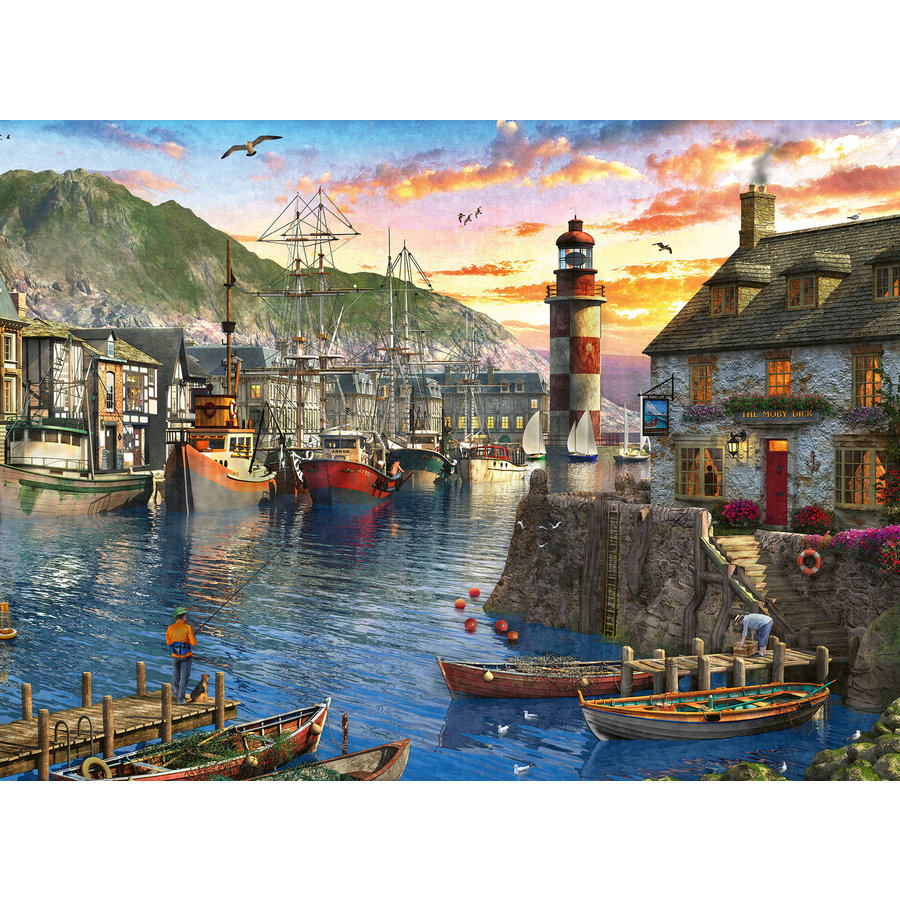 In the morning at the port - 500 pieces-2