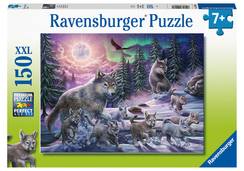 Wolves in the Northern Lights  - 150 pieces