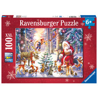 thumb-Kerstmis in het bos - puzzel van 100 stukjes-1