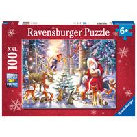 thumb-Noël dans la forêt - puzzle de 100 pièces-1