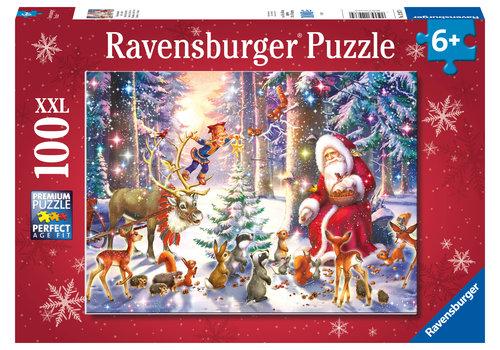 Ravensburger Kerstmis in het bos - 100 stukjes