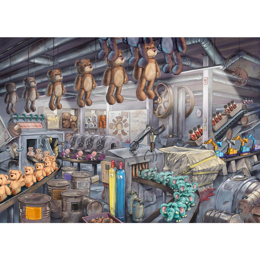 Escape Puzzel: De speelgoedfabriek - 368 stukjes-2
