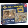 Jumbo Een dagje naar het museum - JvH - 2 puzzels van 1000 stukjes