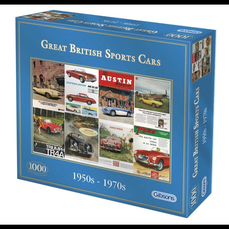 Great British Sports Cars - legpuzzel van 1000 stukjes-1