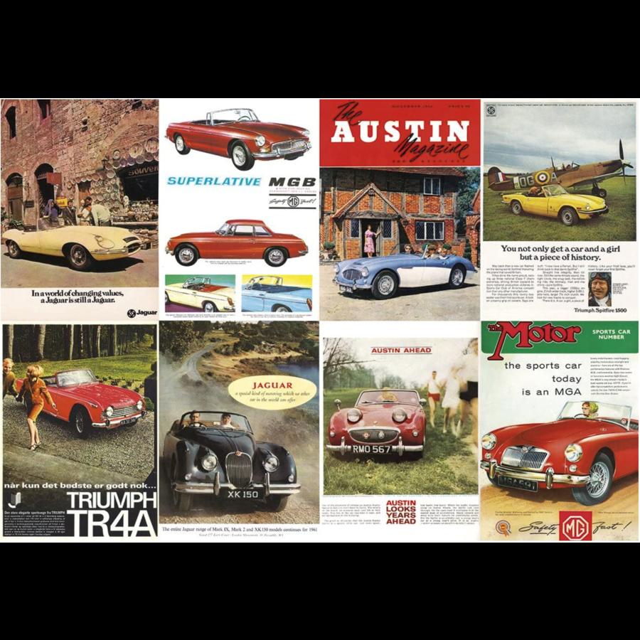 Great British Sports Cars - legpuzzel van 1000 stukjes-2