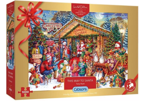 Gibsons This Way to Santa - Limited Edition - 1000 stukjes