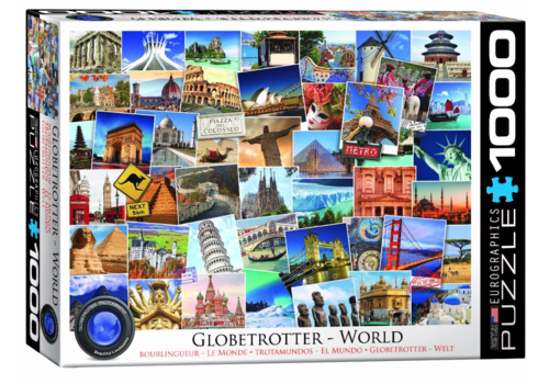 Eurographics Puzzles Globetrotter - Wereld - Collage - 1000 stukjes