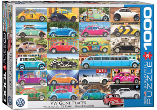 Eurographics Puzzles VW Beetle - Gone Places - 1000 stukjes