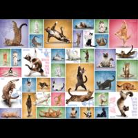 thumb-Yoga Cats - Collage - puzzle de 1000 pièces-1