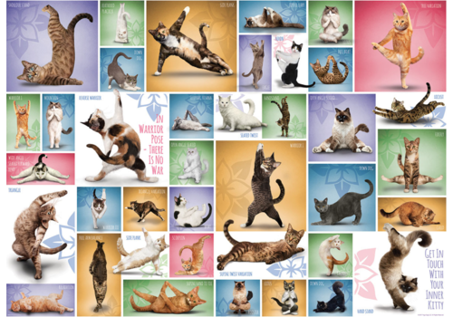 Eurographics Puzzles Yoga Cats - Collage - 1000 pieces
