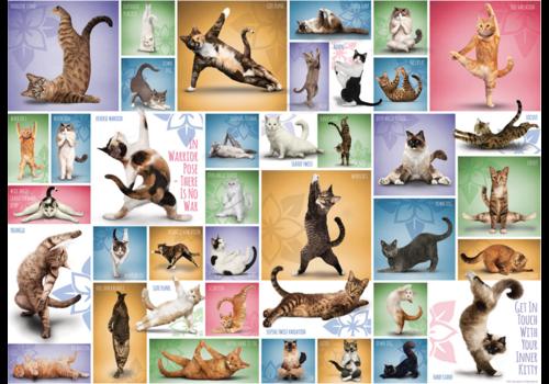 Eurographics Puzzles Yoga Cats - Collage - 1000 stukjes