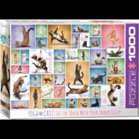 thumb-Yoga Cats - Collage - puzzel van 1000 stukjes-2