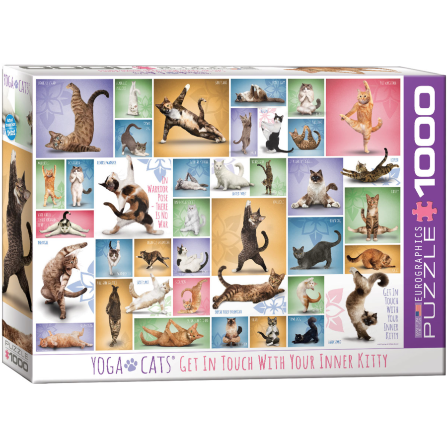Yoga Cats - Collage - 1000 pieces - jigsaw puzzle-2
