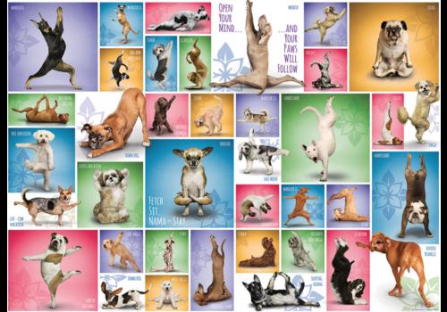 Yoga Dogs - Collage - 1000 stukjes