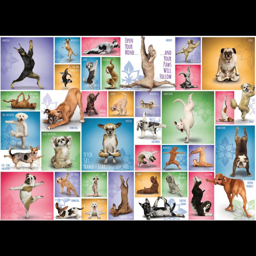 Yoga Dogs - Collage - puzzel van 1000 stukjes-1