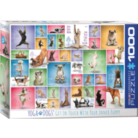 thumb-Yoga Dogs - Collage - puzzel van 1000 stukjes-2
