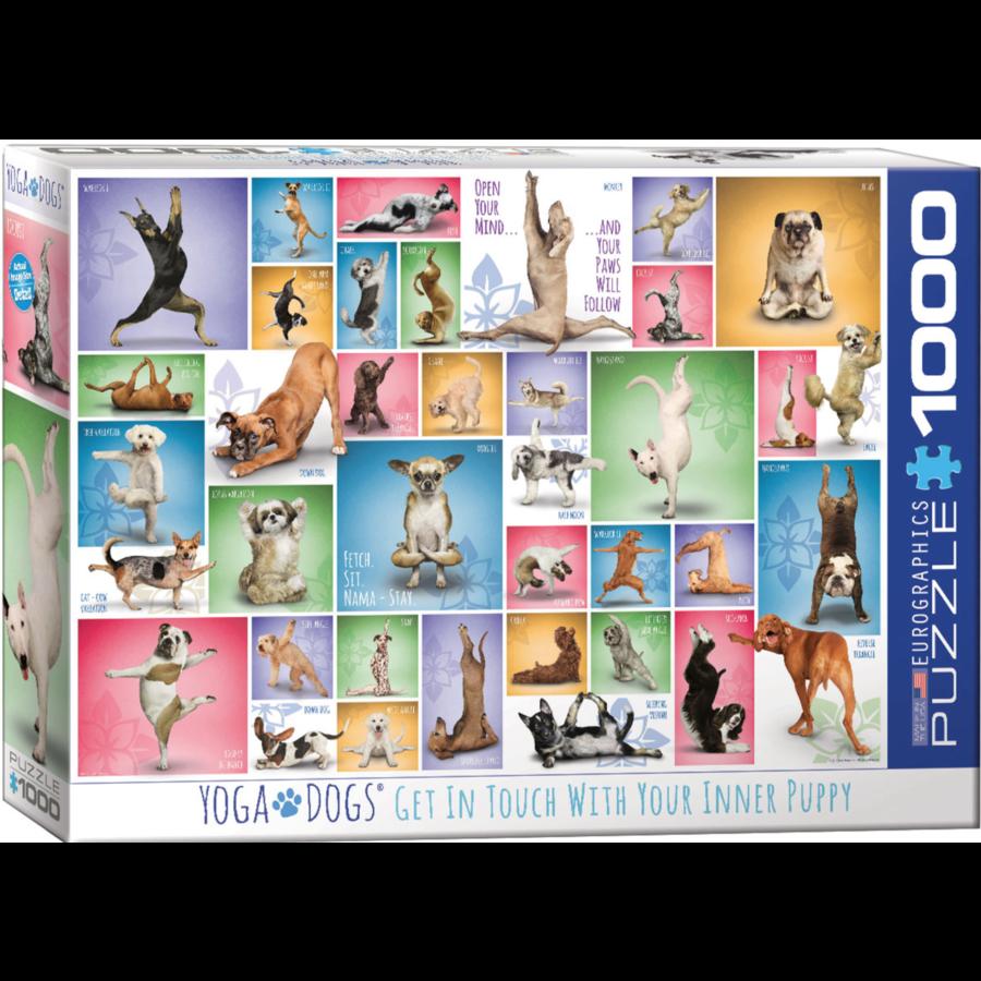 Yoga Dogs - Collage - puzzel van 1000 stukjes-2
