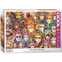 Venetiaanse Maskers - puzzel van 1000 stukjes