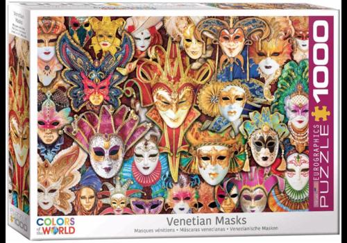Eurographics Puzzles Venetiaanse Maskers - 1000 stukjes