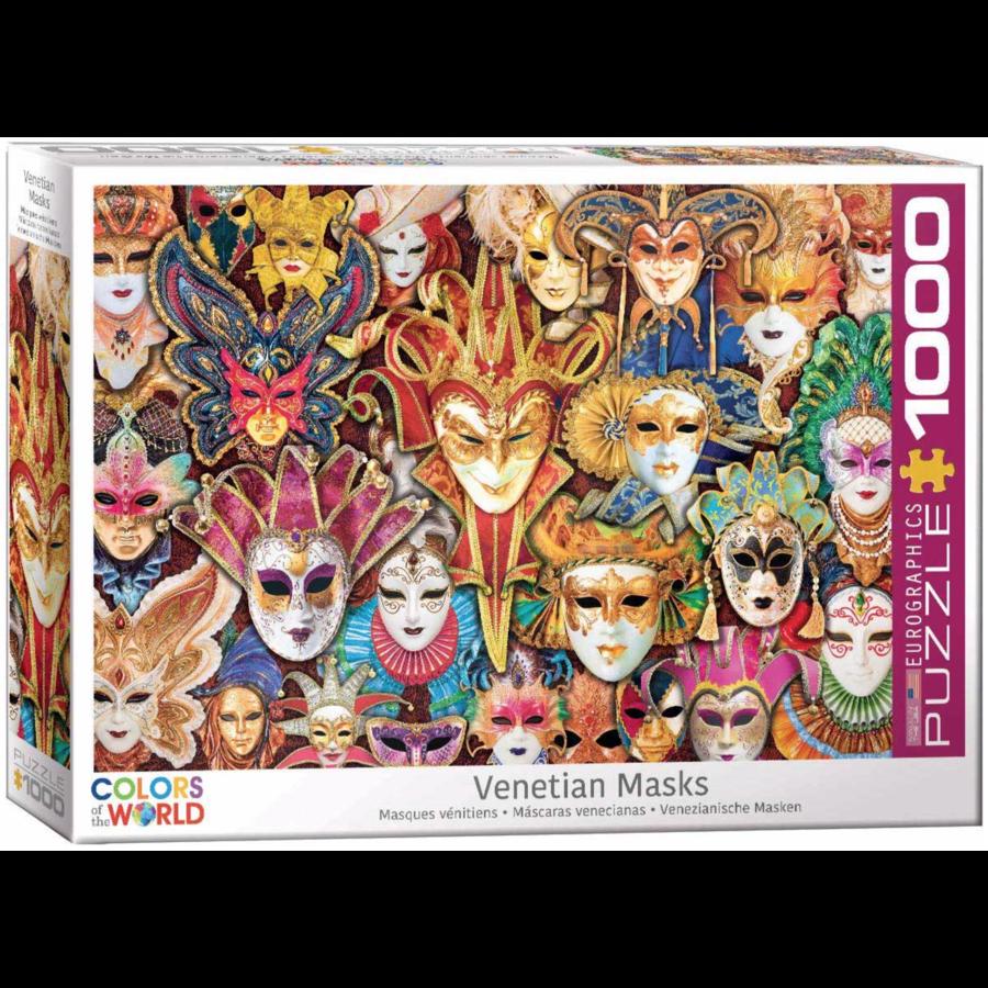 Venetiaanse Maskers - puzzel van 1000 stukjes-1