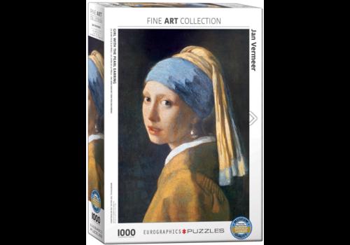 Eurographics Puzzles Vermeer - Het meisje met de parel - 1000 stukjes