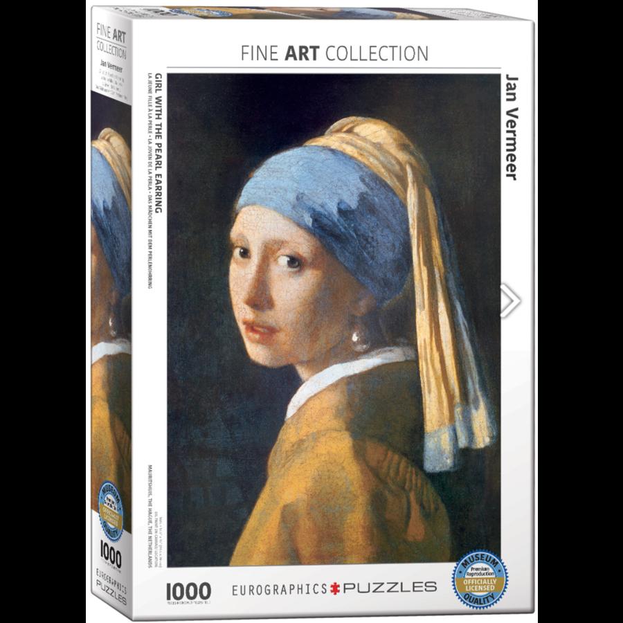 Vermeer - Het meisje met de parel - puzzel van 1000 stukjes-1